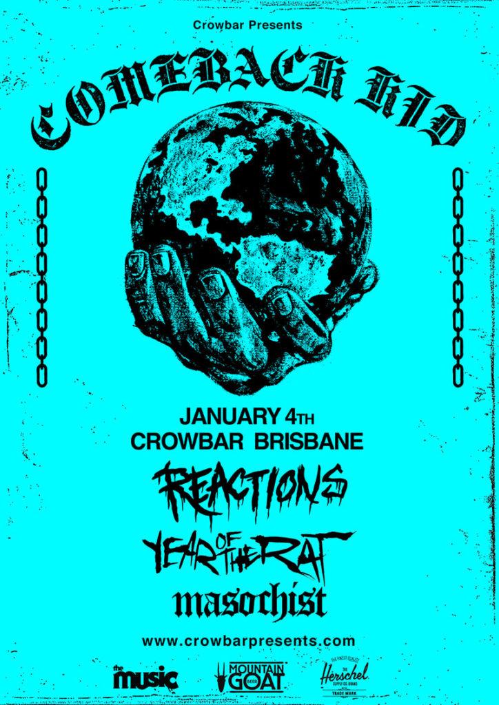 Comeback Kid Australian Tour 2019 Brisbane